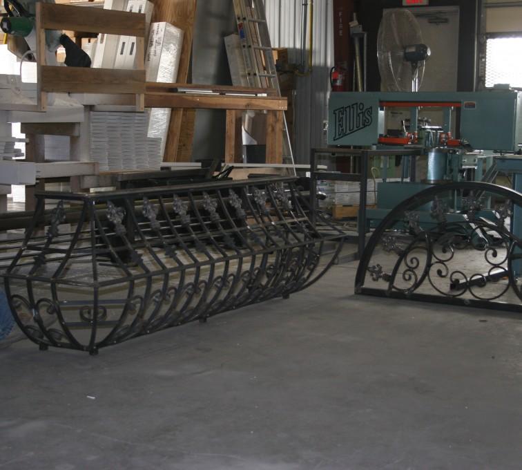 AFC Grand Island - Custom Railing, 2217 Balcony Railing In Fabrication
