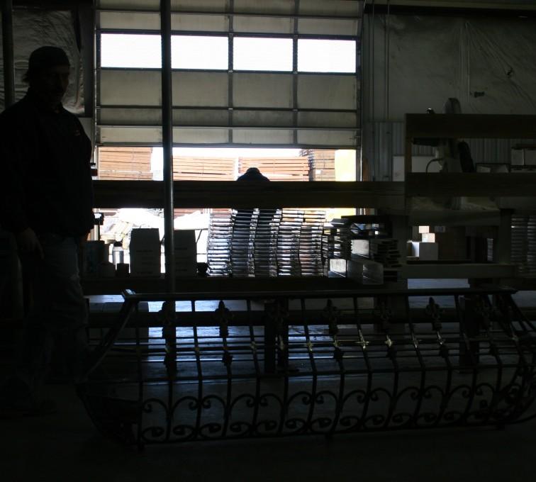 AFC Grand Island - Custom Railing, 2218 Balcony Railing in Fabrication
