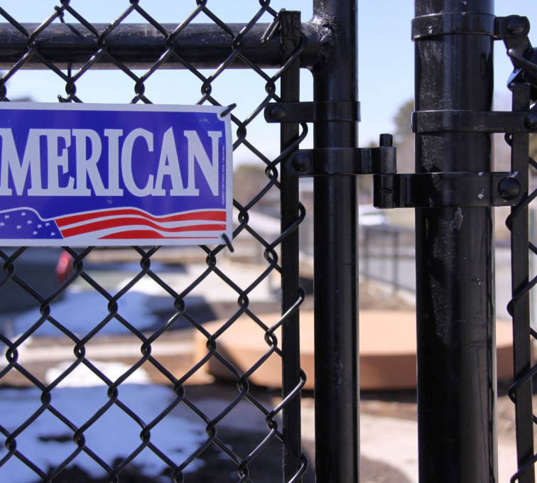 AFC Grand Island - Chain Link Fencing, Black Vinyl Chain Link Gate