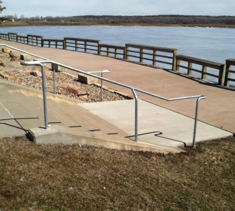 AFC Grand Island - Custom Railing, Custom Galvanized Handrail - AFC - IA