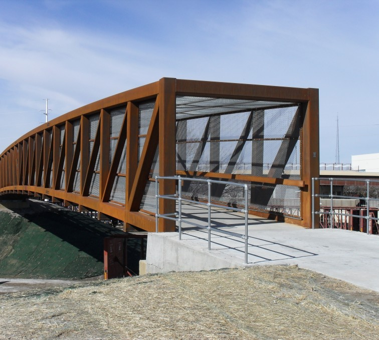 AFC Grand Island - Chain Link Fencing, Holdrege Street Bridge Outside