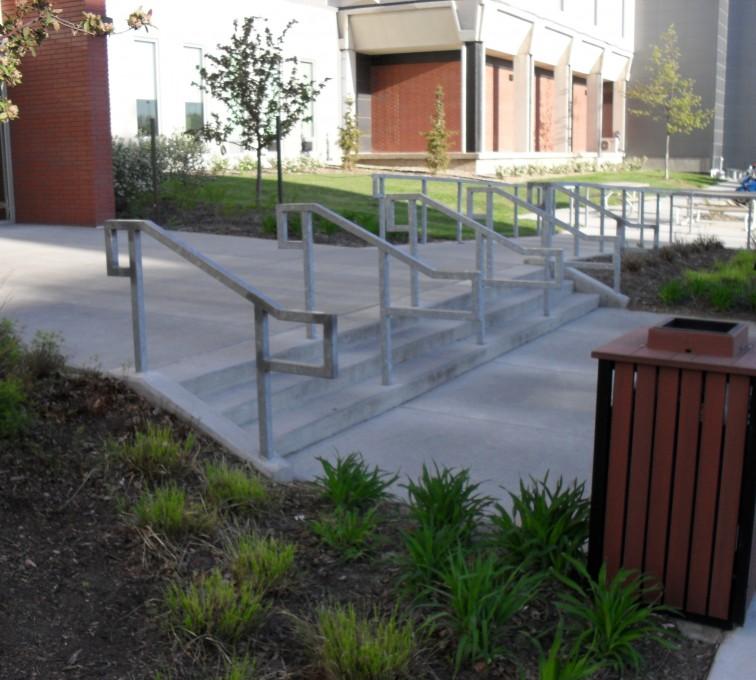 AFC Grand Island - Custom Railing, UNL Handrail