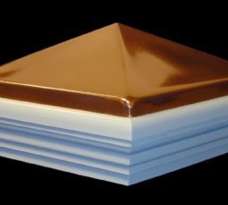 AFC Grand Island - Accessories, Classic Polished Copper PVC Vinyl Fence Post Caps