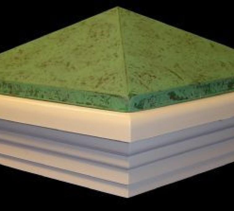 AFC Grand Island - Accessories, Green Patina PVC Vinyl Fence Post Caps