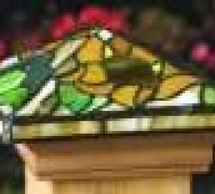 AFC Grand Island - Accessories, Tiffany style Cedar wood Fence Post Cap
