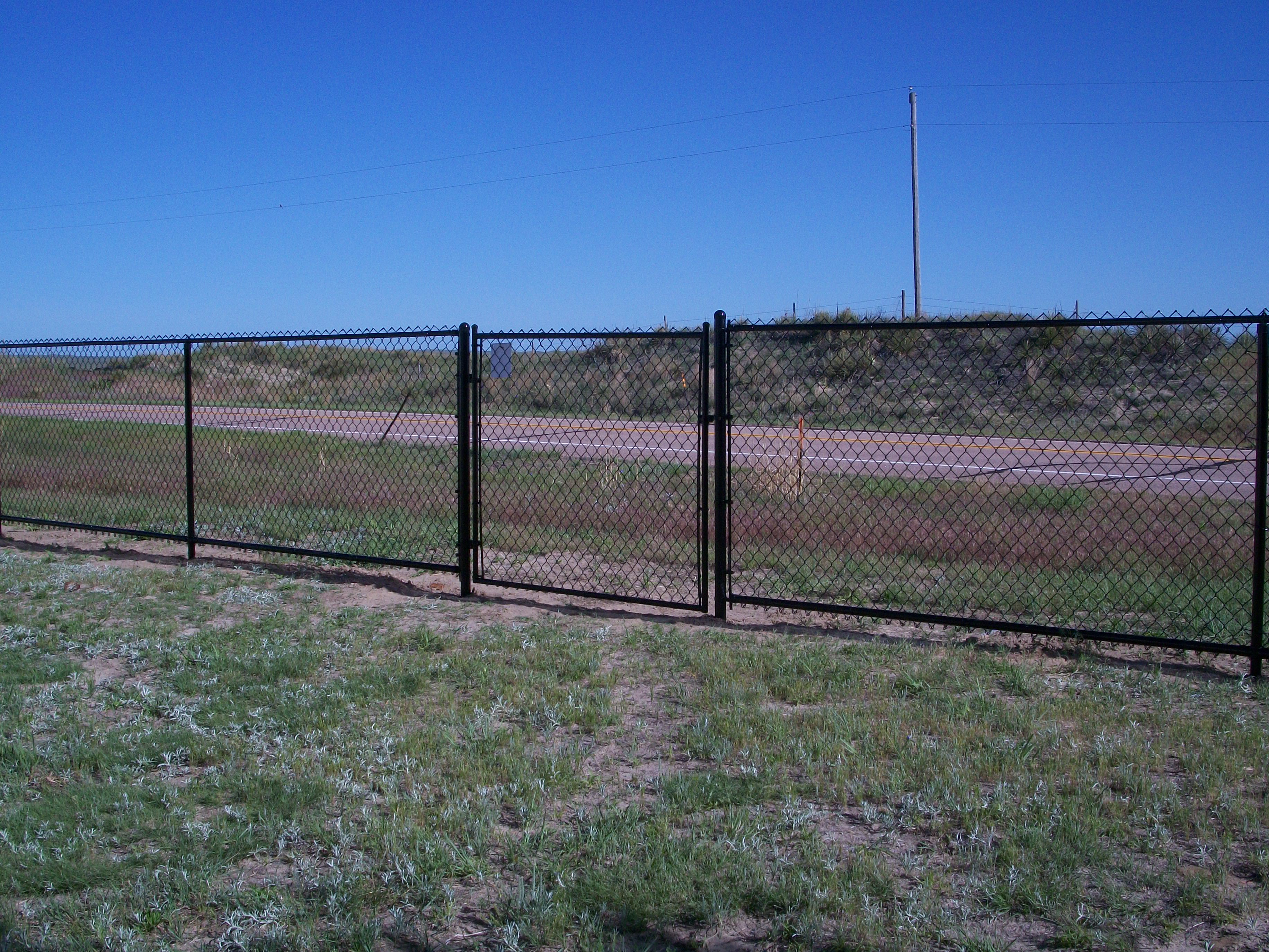 The Temporary Rental Fence Drive Through American Rental